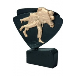 Mini odlievaná figúrka RFEL5014 čierna - Judo