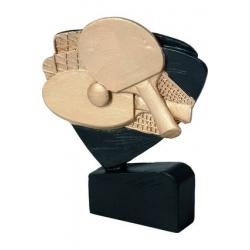 Mini odlievaná figúrka RFEL5011 čierna - Stolný tenis