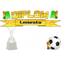 Diplom DSF2 / 1.miesto Futbal