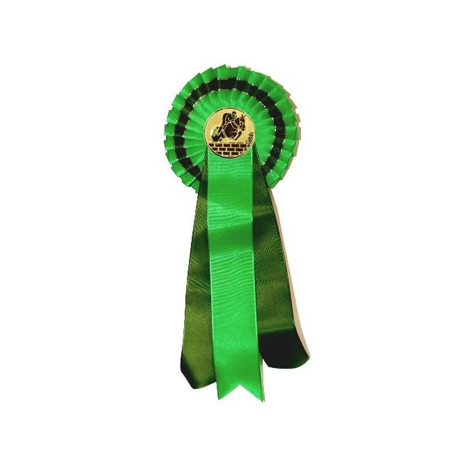 Jednoradová kokarda K1 / zelená