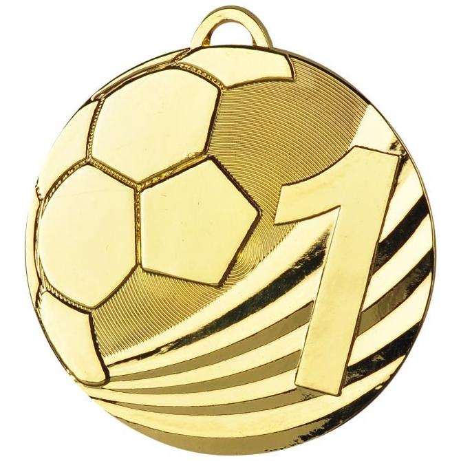 Medaila MD2450 / G-zlatá Futbal