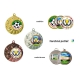 Medaila MD14045 univerzálna + emblém (farebná potlač)