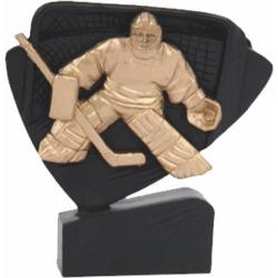 Mini odlievaná figúrka RFEL5036 čierna - hokej (brankár)