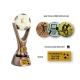 Odlievaná trofej RKO113 / BR Futbal + emblém (kovový)