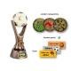 Odlievaná trofej RKO113 / BR Futbal + emblém (holografický)