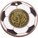 Medaila MMC5150 futbal / B + emblém Viktória holografický