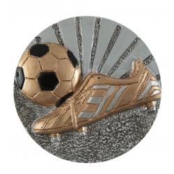 BLD26 odlievaný emblém futbal
