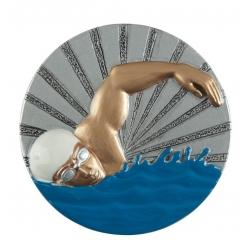 BLD07 odlievaný emblém plávanie