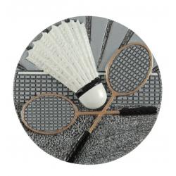 BLD12 odlievaný emblém badminton