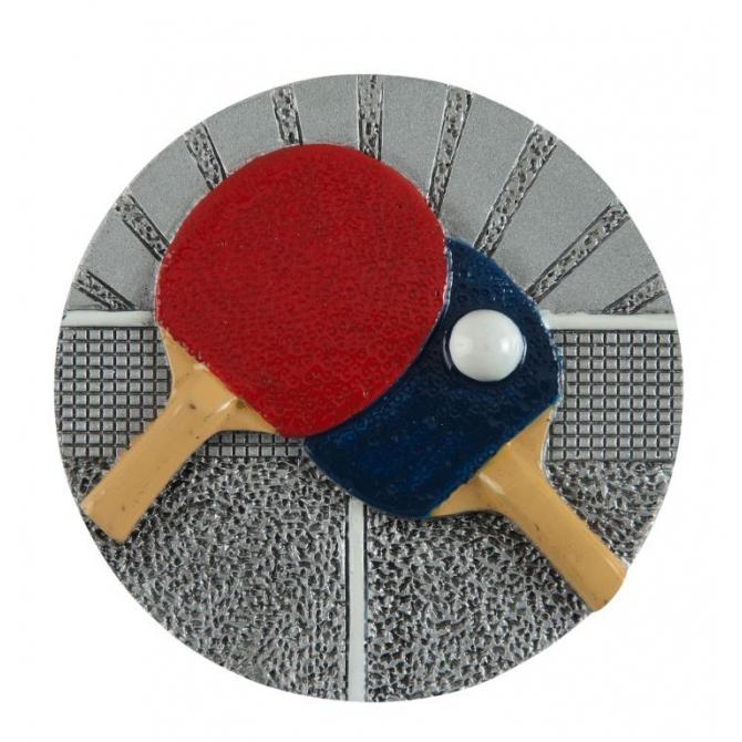 BLD13 odlievaný emblém stolný tenis