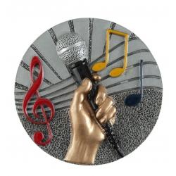 BLD21 odlievaný emblém hudba