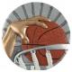 BLD23 odlievaný emblém basketbal