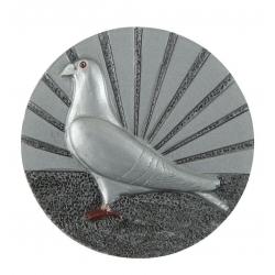 BLD24 odlievaný emblém holub