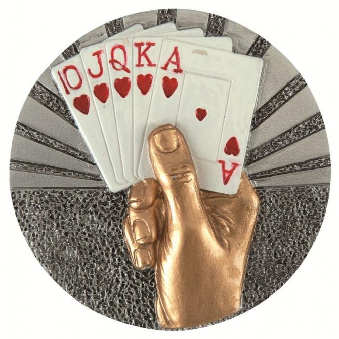 BLD44 odlievaný emblém karty