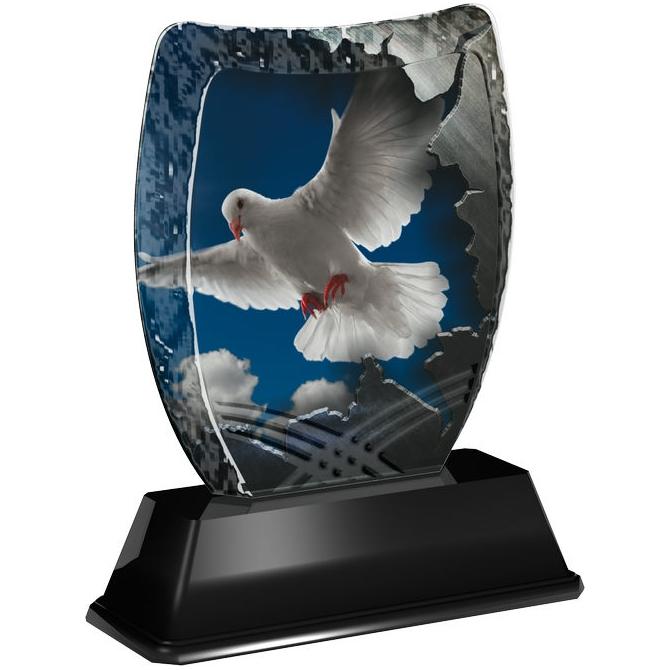 Trofej / plaketa ACE2018M36 holubica