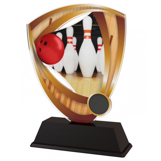 Trofej / plaketa CACUF001M4 bowling