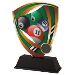 Trofej / plaketa CACUF001M11 biliard