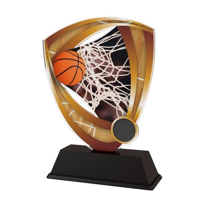 Trofej / plaketa CACUF001M3 basketball