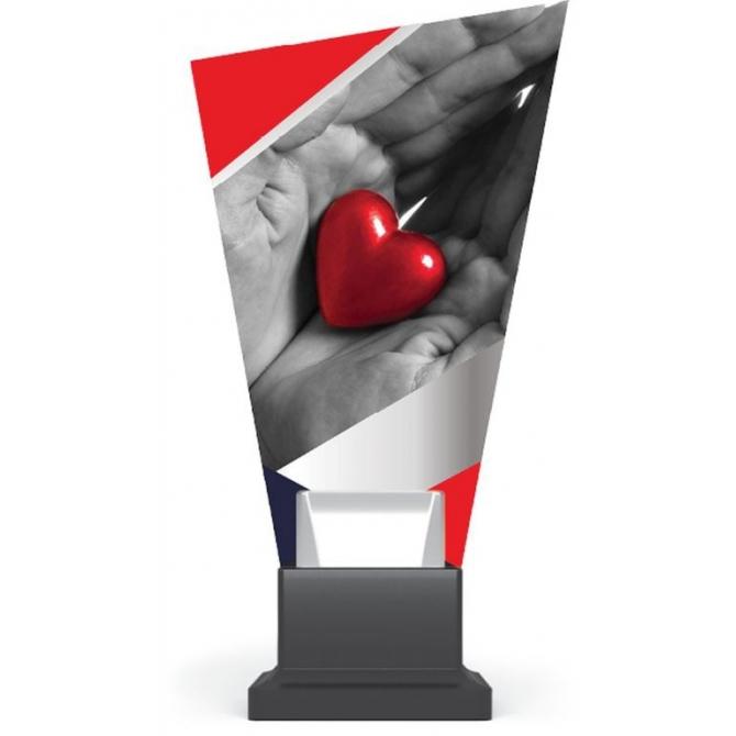 CG02.../HEA - Trofej sklo srdce