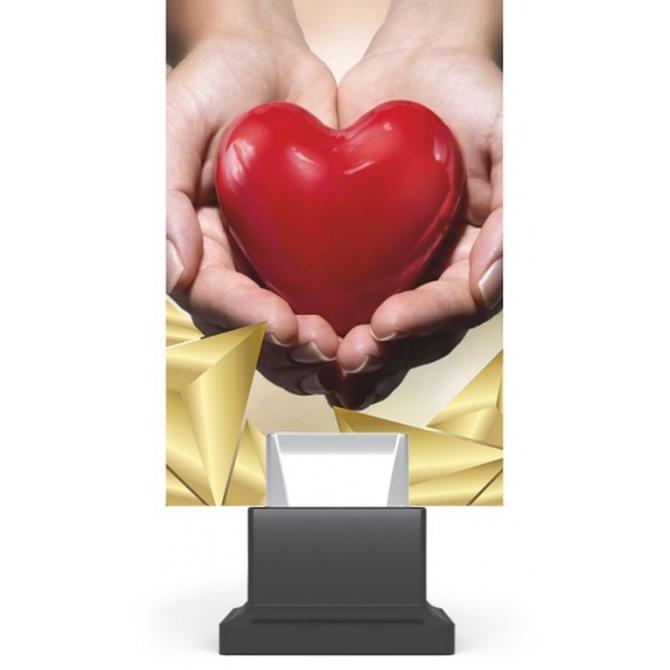 CG01.../HEA - Trofej sklo srdce