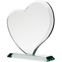 Plaketa / Trofej G041 Sklenená (srdce) s kazetou