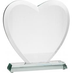 Plaketa / Trofej G031 Sklenená (srdce) s kazetou