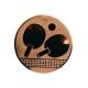 emblém A46/B-Bronzový Stolný tenis