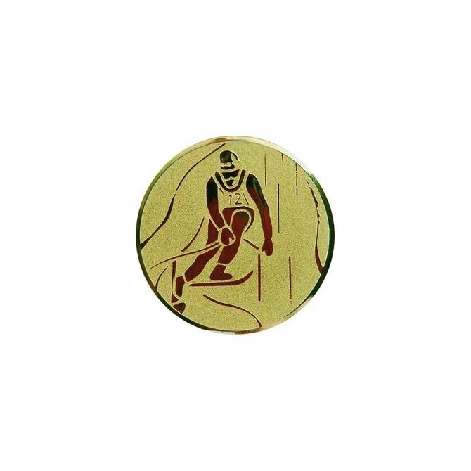 emblém A93/G-Zlatý Lyžovanie