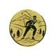 emblém A94/G-Zlatý Lyžovanie