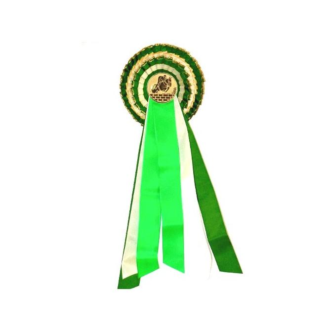 Trojradová kokarda K3 / plnofarebná zelená (ilustračný obrázok)