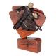 Mini odlievaná figúrka RFEL5034 hnedá - tanec