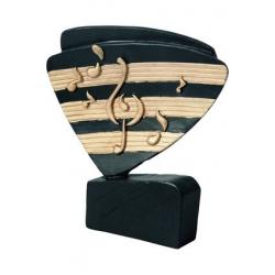 Mini odlievaná figúrka RFEL5030 čierna - hudba