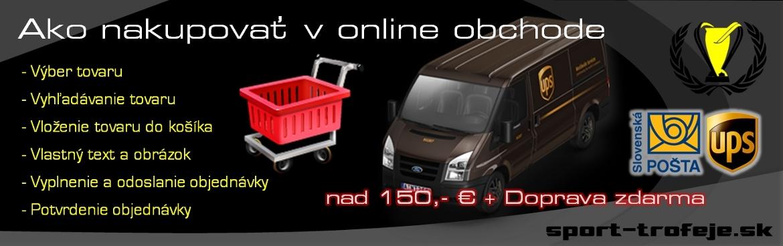 Ako nakupovať v online obchode sport-trofeje.sk