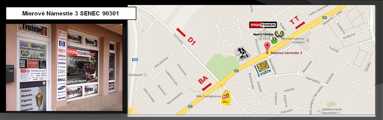 Predajňa sport-trofeje.sk Mierové námestie 3 Senec 903 01